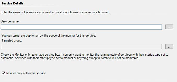 service details blank