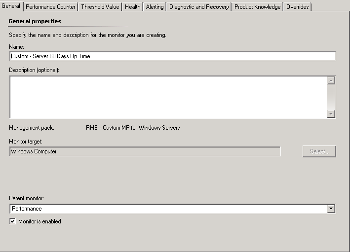 SCOM: Alerting when a server is up for more than X days
