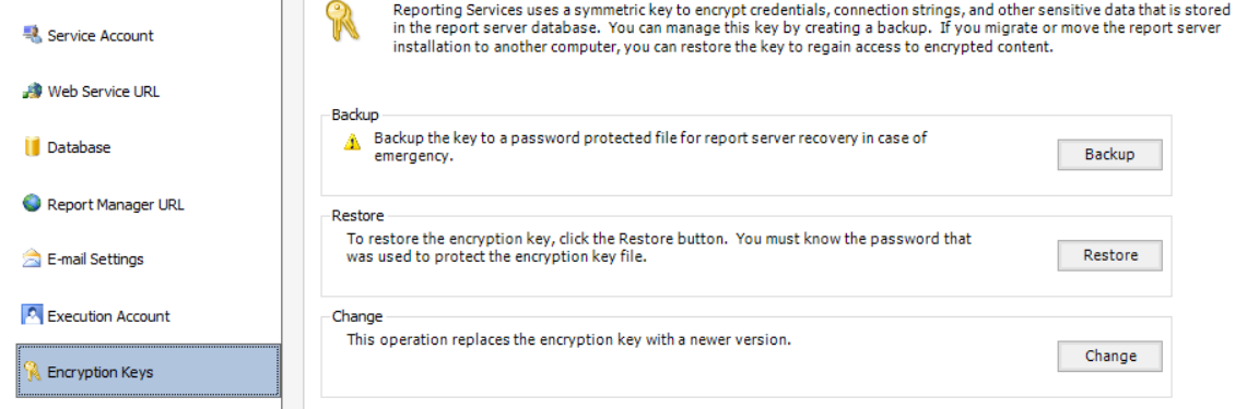 SCOM 2016 the importance of Backing up your SSRS encryption